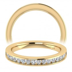 Taryn 14 Karat Yellow Gold Straight Wedding Band TW7438Y44JJ