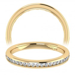 Taryn 14 Karat Yellow Gold Straight Wedding Band TW7443Y44JJ