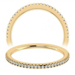 Taryn 14 Karat Yellow Gold Straight Wedding Band TW7497Y44JJ