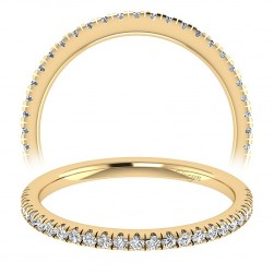 Taryn 14 Karat Yellow Gold Straight Wedding Band TW7533Y44JJ