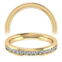 Taryn 14 Karat Yellow Gold Straight Wedding Band TW8191Y44JJ