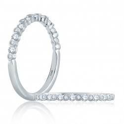 A.JAFFE 18 Karat Classic Diamond Stackable Ring WR1057