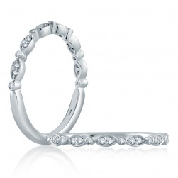A.JAFFE Platinum Classic Diamond Stackable Ring WR1055