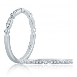 A.JAFFE Platinum Classic Diamond Stackable Ring WR1056