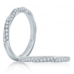 A.JAFFE Platinum Classic Diamond Stackable Ring WR1062
