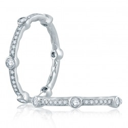 A.JAFFE Platinum Classic Diamond Stackable Ring WR1063
