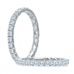 A.JAFFE Platinum Classic Diamond Wedding / Anniversary Ring WR1025Q