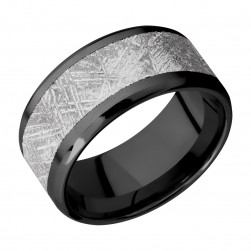 Lashbrook Z10B17(NS)/METEORITE Zirconium Wedding Ring or Band