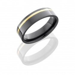 Lashbrook Z6F11OC-14KY Polish Zirconium Wedding Ring or Band