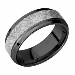 Lashbrook Z8B15(S)/Meteorite Zirconium Wedding Ring or Band