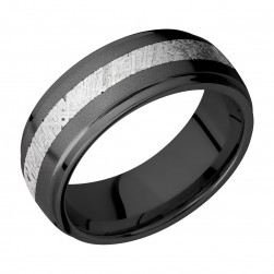 Lashbrook Z8DGE13/METEORITE Zirconium Wedding Ring or Band