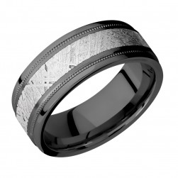 Lashbrook Z8FGEW2UMIL14/Meteorite Zirconium Wedding Ring or Band