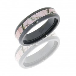Lashbrook ZCAMO6B13-PINKTRAP POLISH Camo Wedding Ring or Band