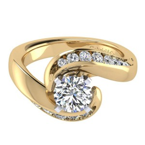 Gabriel 14 Karat Contemporary Engagement Ring ER4309M44JJ