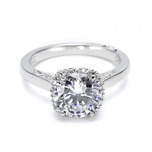Tacori Platinum Dantela Engagement Ring 2620RDPT