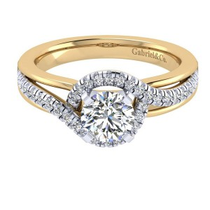 Gabriel 14 Karat Contemporary Engagement Ring ER6952M44JJ