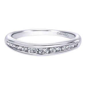 Gabriel 14 Karat Contemporary Wedding Band WB10078W44JJ
