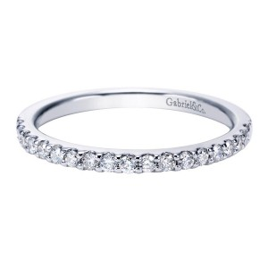 Gabriel 14 Karat Contemporary Wedding Band WB7510W44JJ