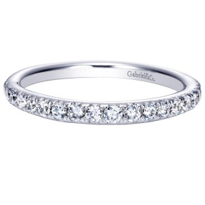 Gabriel 14 Karat Contemporary Wedding Band WB8259W44JJ
