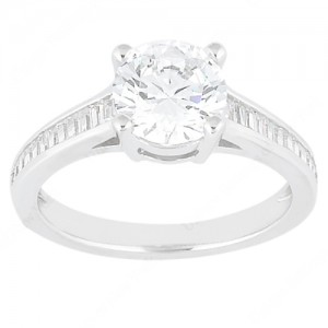 Taryn Collection Platinum Diamond Engagement Ring TQD 0388