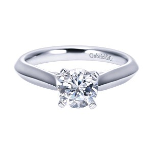 Gabriel 14 Karat Contemporary Engagement Ring ER6686W4JJJ