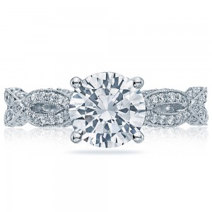 HT2528RD75 Platinum Tacori Ribbon Engagement Ring