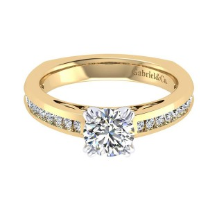 Gabriel 14 Karat Contemporary Engagement Ring ER6655M44JJ