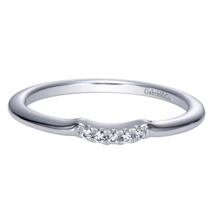 Gabriel 14 Karat Contemporary Wedding Band WB8548W44JJ