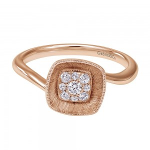 Gabriel Fashion 14 Karat Lotus Ladies' Ring LR50294K45JJ