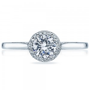 2639RD55 Platinum Tacori Dantela Engagement Ring