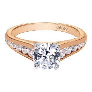 Gabriel 14 Karat Contemporary Engagement Ring ER6664T44JJ