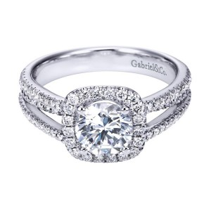 Gabriel 14 Karat Contemporary Engagement Ring ER7786W44JJ