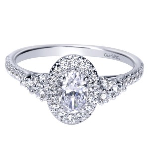 Gabriel 14 Karat Contemporary Engagement Ring ER98995W44JJ