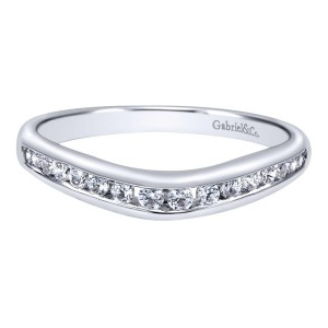 Gabriel 14 Karat Contemporary Wedding Band WB10138W44JJ