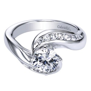Gabriel 14 Karat Contemporary Engagement Ring ER4309W44JJ