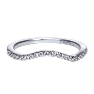 Gabriel 14 Karat Contemporary Wedding Band WB5331W44JJ
