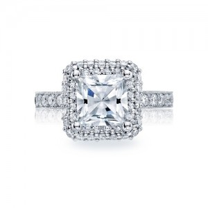 HT2520PR75 Tacori Crescent 18 Karat Engagement Ring