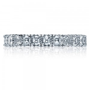 32-3 Platinum Tacori Clean Crescent Diamond Wedding Ring