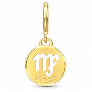 Endless Jewelry Virgo Zodiac Coin 18k Gold Plated Charm 53346-6