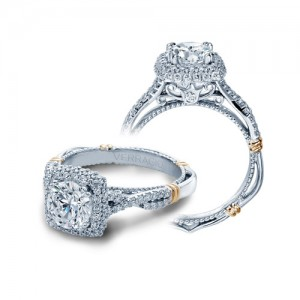 Verragio Parisian-135CU Platinum Engagement Ring
