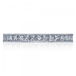 45-25ET Platinum Tacori Sculpted Crescent Diamond Wedding Ring