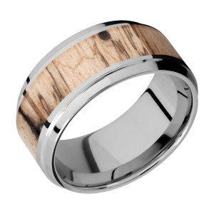 Lashbrook 10B16(S)/HARDWOOD Titanium Wedding Ring or Band