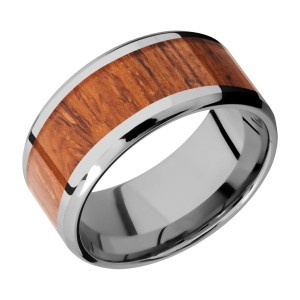 Lashbrook 10B17(NS)/HARDWOOD Titanium Wedding Ring or Band