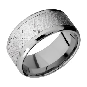 Lashbrook 10B17(NS)/METEORITE Titanium Wedding Ring or Band
