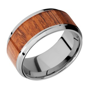 Lashbrook 10B17(S)/HARDWOOD Titanium Wedding Ring or Band