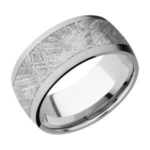 Lashbrook 10D17/METEORITE Titanium Wedding Ring or Band