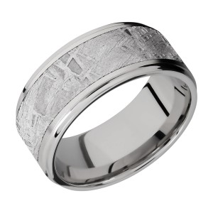Lashbrook 10FGE17/METEORITE Titanium Wedding Ring or Band