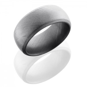 Lashbrook D10DB BeadBlast Damascus Steel Wedding Ring or Band