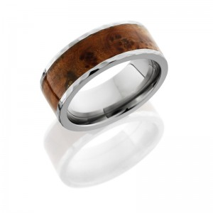 Lashbrook HW8F16/THUYABURL HAMMER-POLISH Hard Wood Wedding Ring or Band