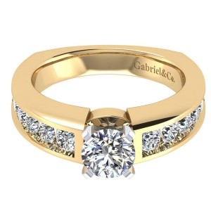 Gabriel 14 Karat Contemporary Engagement Ring ER4184M44JJ